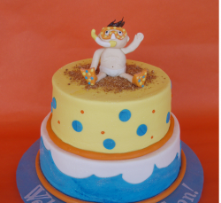 Creative Baby Snorkeler Shower Cake.PNG