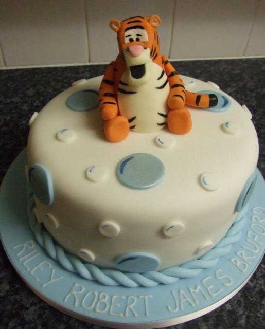 Tigger White Round Cake On Powder Blue Base Jpg 1 Comment