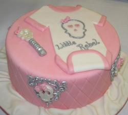 Pink baby shower cake for future rebel.JPG