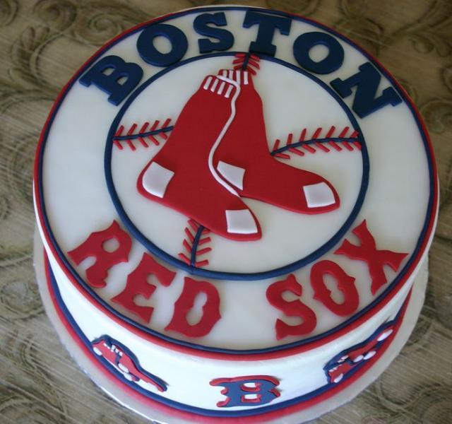 Boston Red Sox Cake Jpg 3 Comments