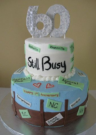 60 And Still Busy Traveling Theme Birthday Cake Jpg 1