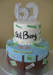 60 and still busy traveling theme birthday cake.JPG
