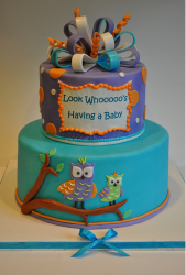 Owl Baby Shower Cake in bright colors.PNG