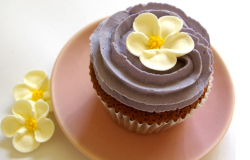 Purple Mother's Day Cupcake with yellow flowers.PNG