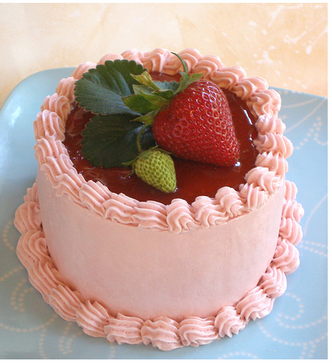 Strawberry Mini Cake with fresh strawberry cake topper.PNG