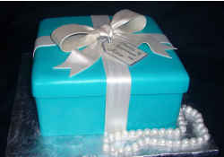 Bright blue Tiffany Box with Pearls for bride shower.PNG