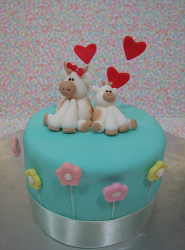 Happy Mother's Day cake with cute topper.PNG