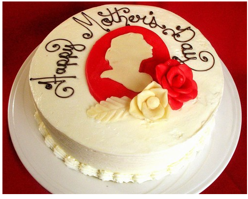 Mother S Day In White And Red Cake Decor Colors Png