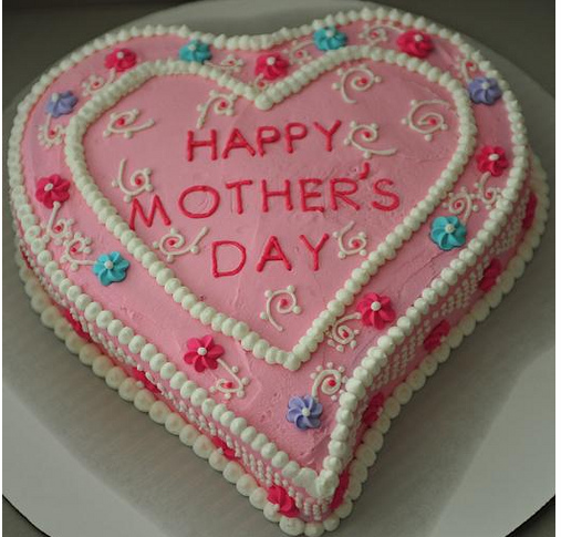 mothers day cakes pictures. Home made heart mother#39;s day