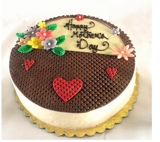 Flower Basket Mothers Day Cake : Mother s day basket cake with flowers and hearts