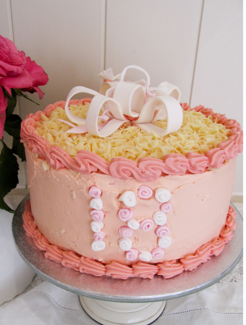 Picture Of Vanilla And White Chocolate Birthday Cake Png