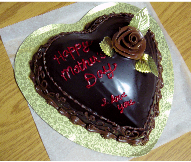 Chocolate Happy Mother S Day Cake With Red Letters Png