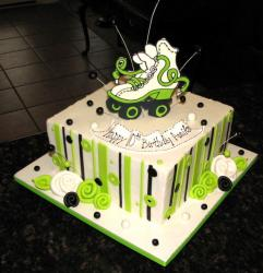 Roller skating theme birthday cake.JPG
