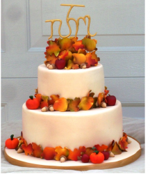 Monogram autum leaves wedding cake topper.PNG