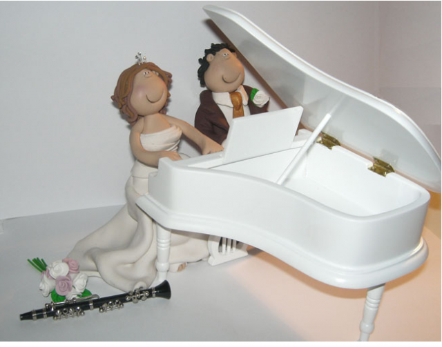 music wedding cake toppers