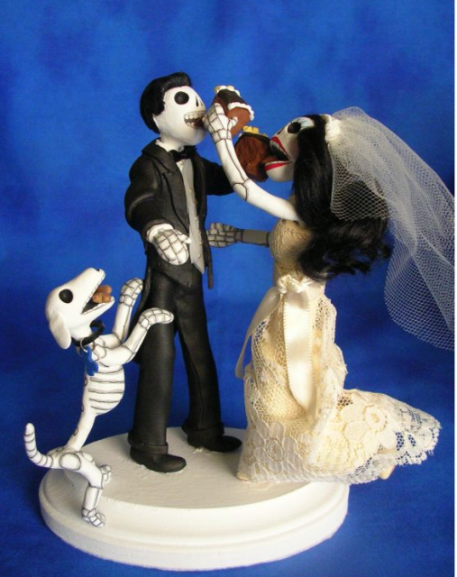 pic of day of the dead wedding cake topper with dog png 2 comments