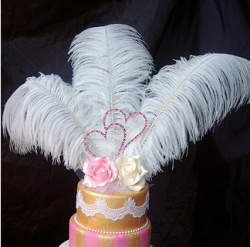 Roses, hears and feather wedding cake toppers.PNG