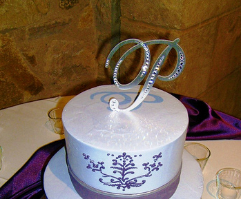 monogram cake toppers for wedding