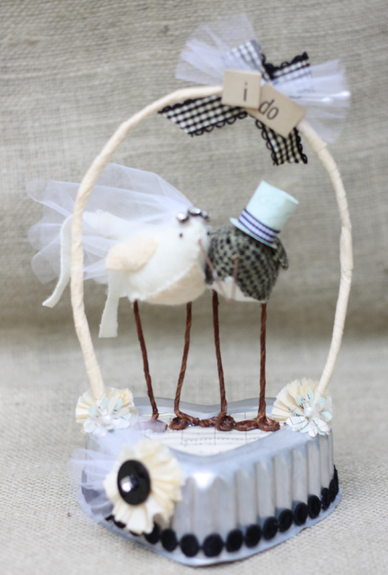 hand made wedding cake toppers