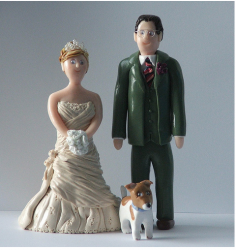 Wedding Cake Toppers with Pet Dog picture.PNG