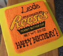 Reeses Peanut Butter Cup birthday cake.JPG