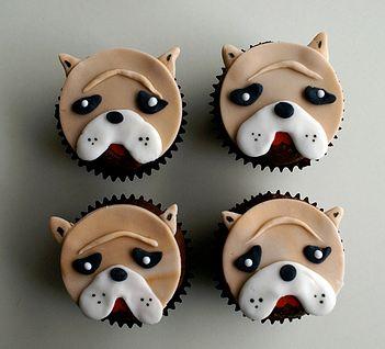 Bulldog Face Cupcakes Jpg