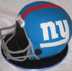New York Giants helmet cake.JPG