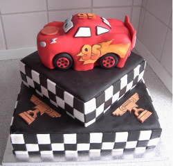 Lightning McQueen cake topper_Race car disney movie.PNG
