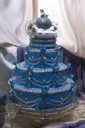 Beautiful blue Cinderella wedding cake.PNG