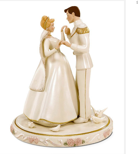 Disney Cinderella Dancing With Prince Cake Topper Png