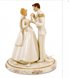 Disney cinderella dancing with prince cake topper.PNG