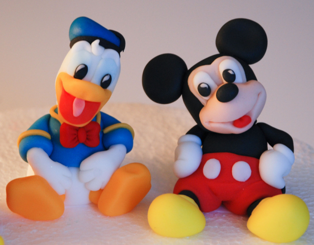 mickey mouse cake. Donald duck and Mickey mouse