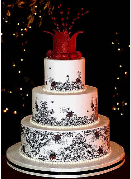one of a kind wedding cakes big fancy wedding cake with unique cake topper png 18020