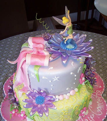 Image Of Disney Fairies Cake Topper With Tinkerbell