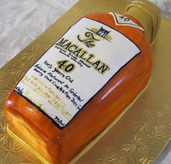Macallan Whisky Bottle Cake Jpg 1 Comment