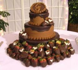 Three tier ganache monogram cake.jpg