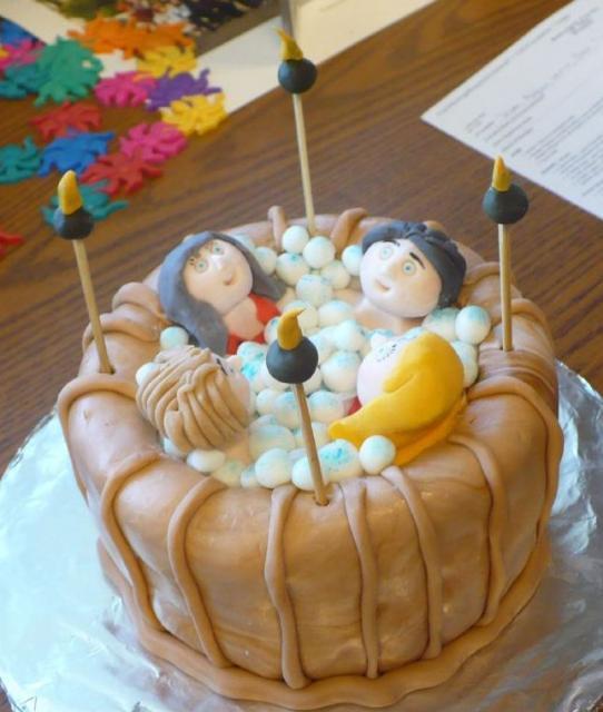 Birthday Cake Ideas Photos Hot : Hot tub cake.JPG