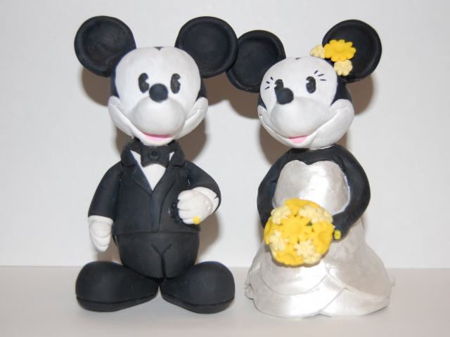 Mickey And Minnie Cake Toppers For WeddingPNG Hi Res 720p HD
