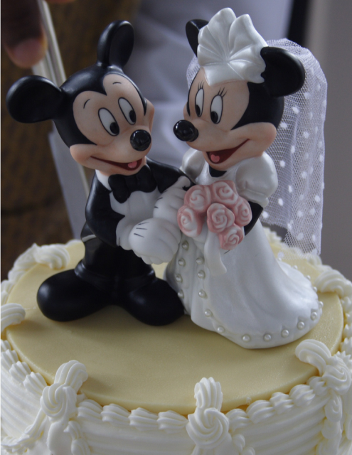 mickey mouse wedding cake toppers