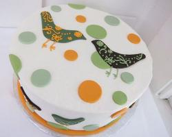 White polkadot cake with two birds.JPG