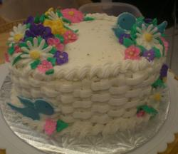 White cream flower basket cake.JPG