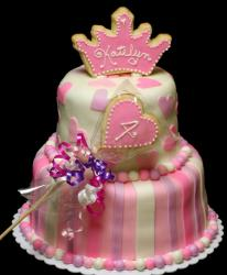 Two tier Princess theme birthday cake.JPG