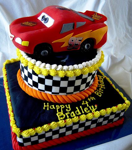 Picture Galleries on Disney Two Tier Cars Theme Cake With Lightning Mcqueen Topper Jpg
