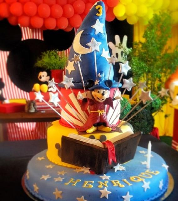Mickey Mouse Wizard S Apprentice Cake For 3 Year Old Jpg
