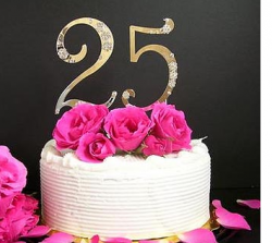 25 anniversary cake topper with crystals.PNG
