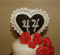 44 anniversary cake topper in heart shape.PNG