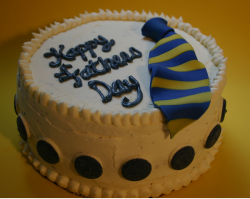 Around fathers day cake with cute tie.PNG