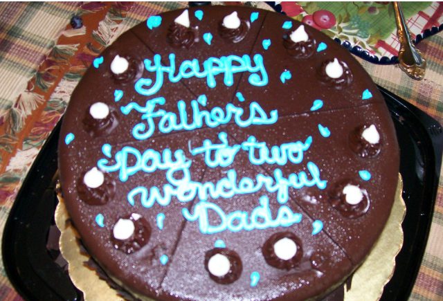 Chocolate homemade happy fathers day cake.PNG