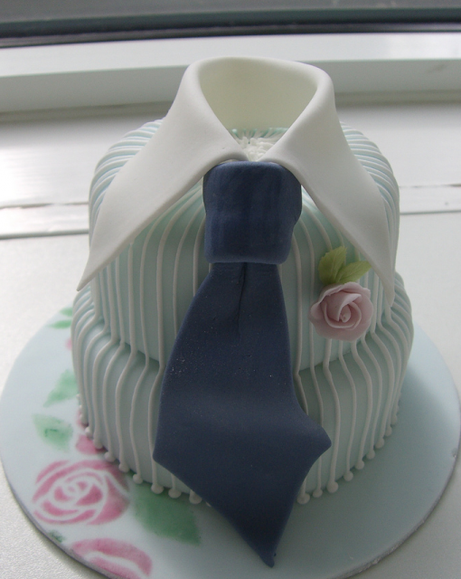 Cool fathers day tie cake in two tiers picture.PNG