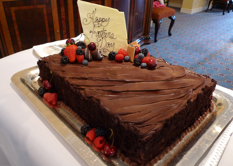 Elegant big fathers day chocolate cake with berries.PNG